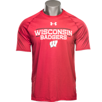 Image For Under Armour Wisconsin Badgers Tech Tee (Red)