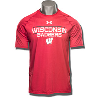Image For Under Armour Wisconsin Badgers Tech Tee (Red) 3X