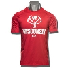 Image for Under Armour Wisconsin Basketball Tech Tee (Red) *