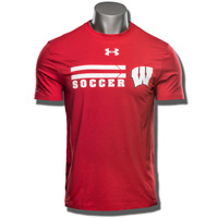 Image For Under Armour UW Soccer Charged Cotton Tee (Red) 3X*