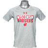 Cover Image for Under Armour Youth Wisconsin Badgers Tech Tee (Gray)
