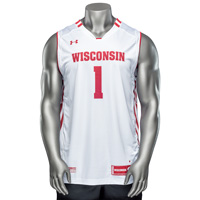 Cover Image For Under Armour WI Replica Basketball Jersey #1(White) *