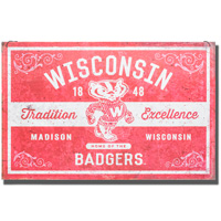 Image For Legacy Wisconsin Tradition Large Tin Sign