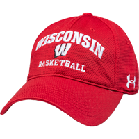 Image For Under Armour Wisconsin Basketball Adjustable Hat (Red) *