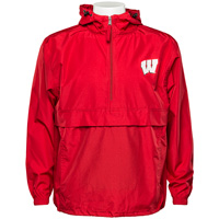 Image For Champion Wisconsin Motion W Packable Jacket (Red)