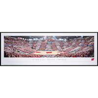 Image For Blakeway Panorama UW Red and White Game Framed Poster
