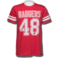 Image For '47 Brand Badgers 48 T-Shirt (Red) *