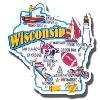 Cover Image for Neil Enterprises, Inc. Wisconsin Badger Pennant Magnet
