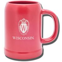Image For LXG Inc. Wisconsin Ceramic Stein (Red)