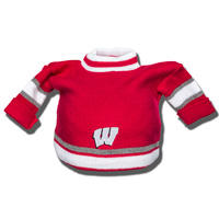 Image For Logofit Wisconsin Knit Sweater Hat (Red)*