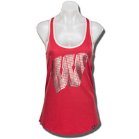 Image For '47 Brand Women's Wisconsin W Tank Top (Red) *