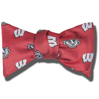 Image For Jardine Bucky Badger and Motion W Bow Tie (Red)