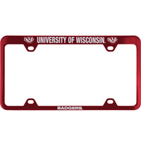 Cover Image For LXG Inc. Engraved UW Badgers License Plate Frame (Red)