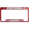 Image for LXG Inc. License Plate Frame with WI Badgers (Red)