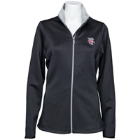 Image For Antigua Women's Bucky Badger Leader Jacket (Black)