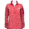 Image for Antigua Women's Wisconsin ¼ Zip Sweater (Red) *