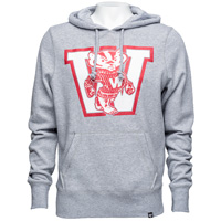 Image For '47 Brand Vault Wisconsin Hooded Sweatshirt (Slate Gray)