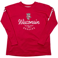 Image For Under Armour Youth Girls Wisconsin Long Sleeve (Red) *