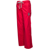 Image For CID Women's Wisconsin Badgers Scrub Pants (Red)