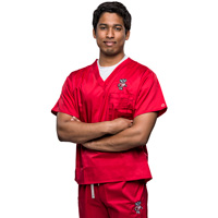 Cover Image For CID Bucky Badger Scrub Top (Red)