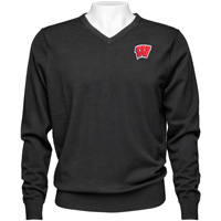 Cover Image For Cutter & Buck Wisconsin Lakemont Sweater (Black)