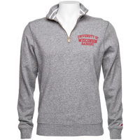 Cover Image For League UW Badgers ¼ Zip Sweatshirt (Fall Heather) *