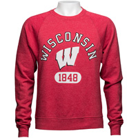 Cover Image For League Wisconsin 1848 Crew Neck Sweatshirt (Red) *
