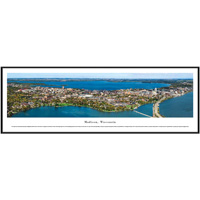 Cover Image For Blakeway Madison, Wisconsin Skyline Panoramic Framed Poster