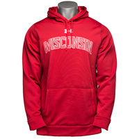 Image For Under Armour Wisconsin Armour Fleece Hood (Red)