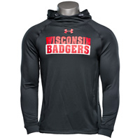 Cover Image For Under Armour Wisconsin Popover Hood Sweatshirt (Black) *