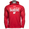 Cover Image for Under Armour WI Badgers Fleece Hooded Sweatshirt (Gray)
