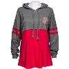 Image for Boxercraft Women's Bucky Hooded Long Sleeve (Red/Gray) *