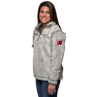 Cover Image For Boxercraft WI ¼ Zip Sherpa Sweatshirt (Gray)