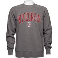 Cover Image For Gear for Sports Wisconsin Crew Sweatshirt (Charcoal)