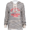Cover Image for Blue 84 Women's Wisconsin Striped Hooded Sweatshirt (Gray)