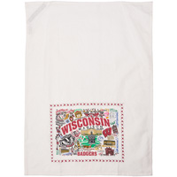 Image For Catstudio Wisconsin Badgers Dish Towel