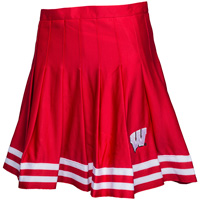 Image For ZooZatz Women's Wisconsin Badger Cheer Skirt (Red/White)