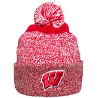 b37dbb05884  47 Brand Wisconsin Cuffed Knit Hat (Red White Gray)