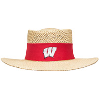 Cover Image For LogoFit Wisconsin Tournament Straw Hat (Tan)*
