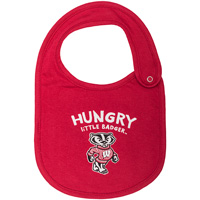 Cover Image For College Kids Wisconsin Badger Baby Bib (Red)