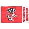 Image for University Blanket & Flag WI Badgers Bucky Flag (Red/Wht)