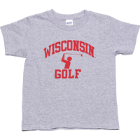 Cover Image For Top Star Youth Wisconsin Golf Tee (Gray) *