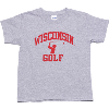 Image for Top Star Youth Wisconsin Golf Tee (Gray)
