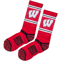 Image For Strideline Wisconsin Motion W Sock Crew (Red)