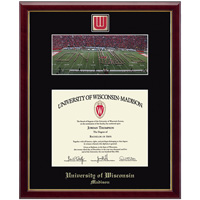 Image For Church Hill Classics School Diploma Frame-UW Band Photo