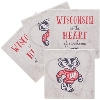 Image for Legacy Wisconsin Is The Heart Of Our Home 4PK Coaster(Stone)