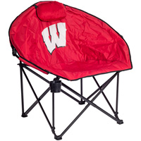 Cover Image For Logo Chair Wisconsin Badgers Squad Sphere Chair (Red) *