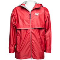 Image For Charles River Apparel Wisconsin Rain Jacket (Red)