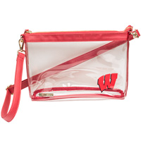 Image For Capri Designs Clear Wisconsin Purse (Red) *