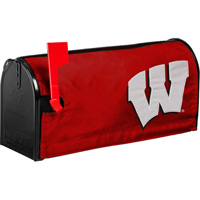 Image For Evergreen Enterprises Wisconsin Badgers Mailbox Cover (Red)